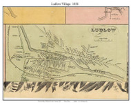 Ludow Village, Vermont 1856 Old Town Map Custom Print - Windsor Co.