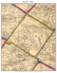 Pomfret, Vermont 1856 Old Town Map Custom Print - Windsor Co.