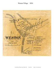 Weston Village, Vermont 1856 Old Town Map Custom Print - Windsor Co.