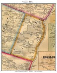 Windsor, Vermont 1856 Old Town Map Custom Print - Windsor Co.