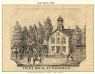 Woodstock Courthouse, Vermont 1856 Windsor Co.