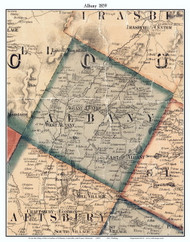 Albany, Vermont 1859 Old Town Map Custom Print - Orleans Co.