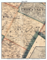 Barton, Vermont 1859 Old Town Map Custom Print - Orleans Co.