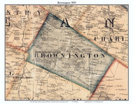 Brownington, Vermont 1859 Old Town Map Custom Print - Orleans Co.