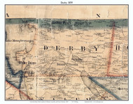 Derby, Vermont 1859 Old Town Map Custom Print - Orleans Co.