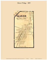 Glover Village, Vermont 1859 Old Town Map Custom Print - Orleans Co.