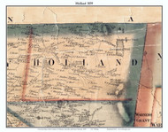 Holland, Vermont 1859 Old Town Map Custom Print - Orleans Co.