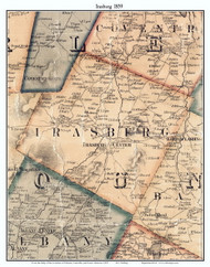 Irasburg, Vermont 1859 Old Town Map Custom Print - Orleans Co.