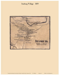 Irasburg Village, Vermont 1859 Old Town Map Custom Print - Orleans Co.