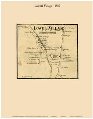 Lowell Village, Vermont 1859 Old Town Map Custom Print - Orleans Co.