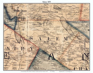 Salem, Vermont 1859 Old Town Map Custom Print - Orleans Co.