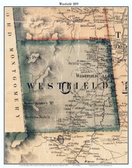 Westfield, Vermont 1859 Old Town Map Custom Print - Orleans Co.