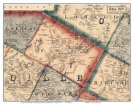 Eden, Vermont 1859 Old Town Map Custom Print - Lamoille Co.