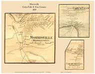 Morrisville, Cady's Falls, and Four Corners Villages, Vermont 1859 Old Town Map Custom Print - Lamoille Co.