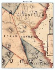 Brunswick, Vermont 1859 Old Town Map Custom Print - Essex Co.