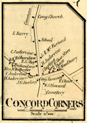 Concord Corners Village, Vermont 1859 Old Town Map Custom Print - Essex Co.