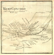 West Concord Village, Vermont 1859 Old Town Map Custom Print - Essex Co.