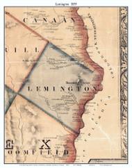 Lemington, Vermont 1859 Old Town Map Custom Print - Essex Co.