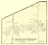 Lunenburg Corners Village, Vermont 1859 Old Town Map Custom Print - Essex Co.
