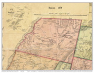 Benson, Vermont 1854 Old Town Map Custom Print - Rutland Co.