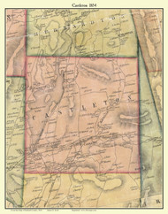 Castleton, Vermont 1854 Old Town Map Custom Print - Rutland Co.