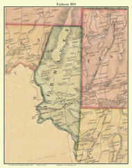 Fairhaven, Vermont 1854 Old Town Map Custom Print - Rutland Co.