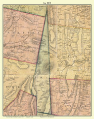 Ira, Vermont 1854 Old Town Map Custom Print - Rutland Co.