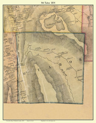 Mt. Tabor, Vermont 1854 Old Town Map Custom Print - Rutland Co.