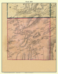 Pawlet, Vermont 1854 Old Town Map Custom Print - Rutland Co.