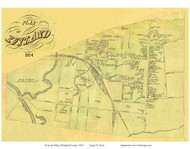 Rutland Village, Vermont 1854 Old Town Map Custom Print - Rutland Co.