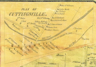 Cuttingsville Village, Vermont 1854 Old Town Map Custom Print - Rutland Co.