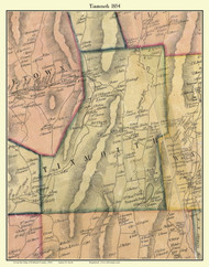 Tinmouth, Vermont 1854 Old Town Map Custom Print - Rutland Co.