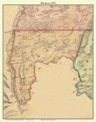 Westhaven, Vermont 1854 Old Town Map Custom Print - Rutland Co.