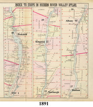 Index Map, 1891 - Old Map Reprint - NY Hudson River Valley Atlas