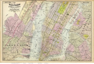 New York South, 1891 - Old Map Reprint - NY Hudson River Valley Atlas