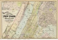 New York North, 1891 - Old Map Reprint - NY Hudson River Valley Atlas