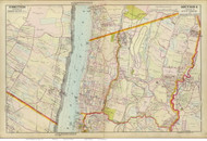Harrington and Yonkers, 1891 - Old Map Reprint - NY Hudson River Valley Atlas