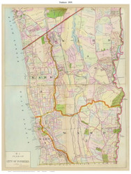 City of Yonkers - Custom, 1891 - Old Map Reprint - NY Hudson River Valley Atlas