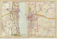 Tarrytown and South Nyack, 1891 - Old Map Reprint - NY Hudson River Valley Atlas