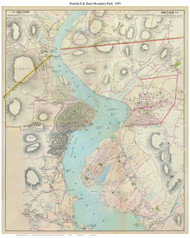 Peekskill & Bear Mountain Park - Custom, 1891 - Old Map Reprint - NY Hudson River Valley Atlas