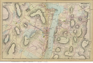 West Point and Garrison, 1891 - Old Map Reprint - NY Hudson River Valley Atlas