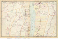 Esopus and Hyde Park, 1891 - Old Map Reprint - NY Hudson River Valley Atlas