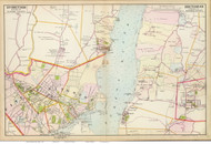 Kingston and Rhinebeck, 1891 - Old Map Reprint - NY Hudson River Valley Atlas