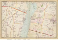 Ulster and Red Hook, 1891 - Old Map Reprint - NY Hudson River Valley Atlas