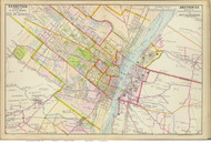 Albany and Greenbush, 1891 - Old Map Reprint - NY Hudson River Valley Atlas