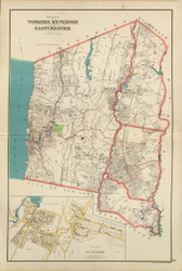Yonkers, Mt Vernon, and Eastchester, New York 1893 - Old Town Map Reprint - Westchester Co. Atlas