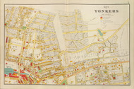 Yonkers - Sheet 1, New York 1893 - Old Town Map Reprint - Westchester Co. Atlas