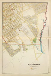 Mt Vernon - Sheet 1, New York 1893 - Old Town Map Reprint - Westchester Co. Atlas