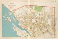 New Rochelle Village - Sheet 1, New York 1893 - Old Town Map Reprint - Westchester Co. Atlas