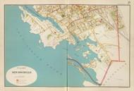 New Rochelle Village - Sheet 2, New York 1893 - Old Town Map Reprint - Westchester Co. Atlas